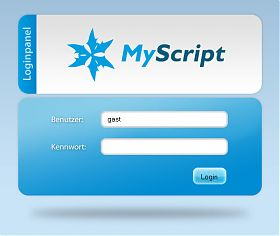 jQuery-Login Screenshot