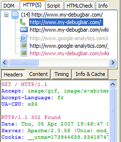 DebugBar Screenshot
