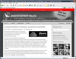 Hackthenet in Schwarz/Weiß